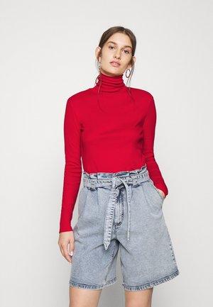 TURTLE NECK - Bluzka z długim rękawem - red