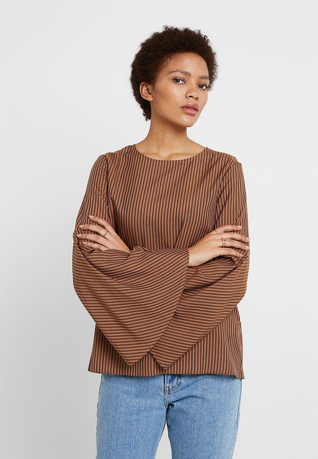 STRIPED - Blouse - brown