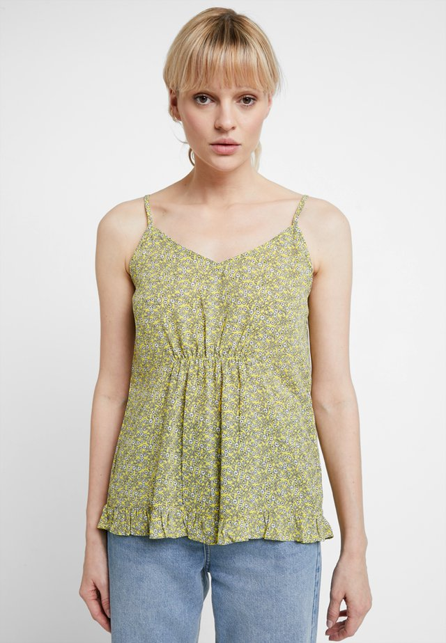 PRINTED CAMI TOP - Top - yellow