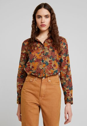 PRINTED - Button-down blouse - beige