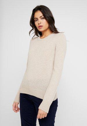 SHETLAND CREW NECK - Pullover - beige
