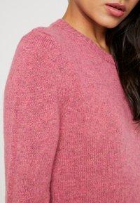 Benetton - SHETLAND CREW NECK - Pullover - pink - 4