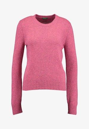 SHETLAND CREW NECK - Sweter - pink