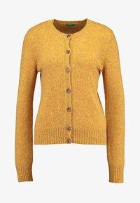 Benetton - SHETLAND CREW NECK - Kardigan - mustard yellow - 4