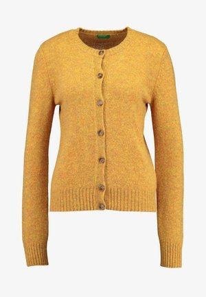 SHETLAND CREW NECK - Cardigan - mustard yellow