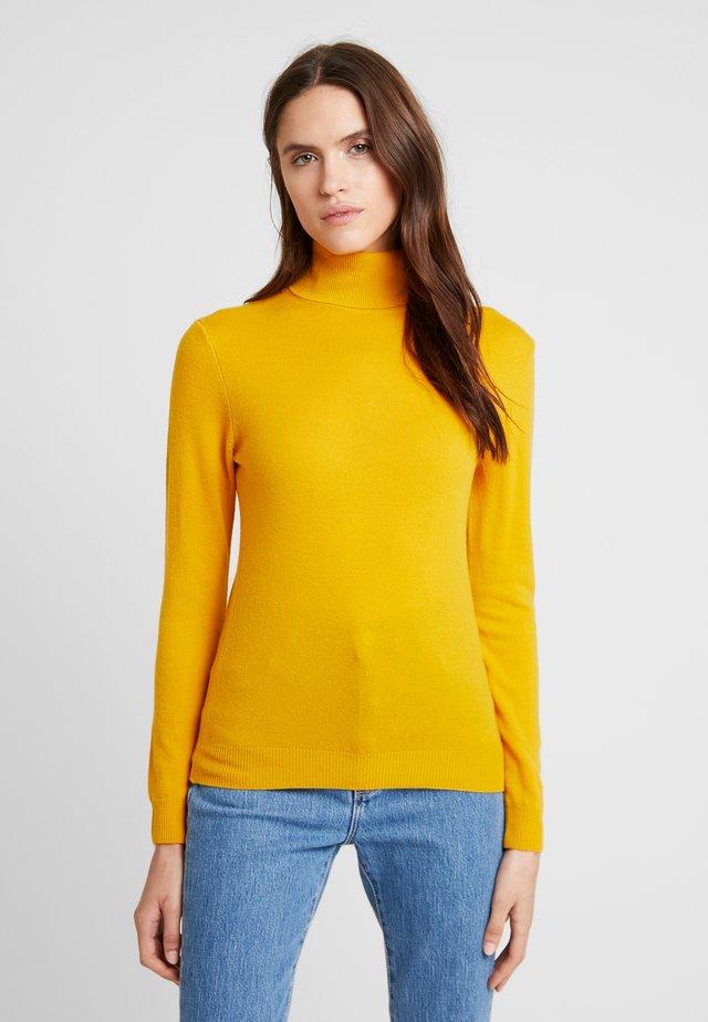 TURTLE NECK - Stickad tröja - mustard yellow