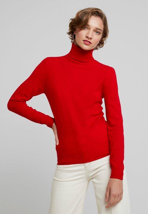 piękny Benetton TURTLE NECK - Sweter - dark red Odzież Damska IVPE-LA2