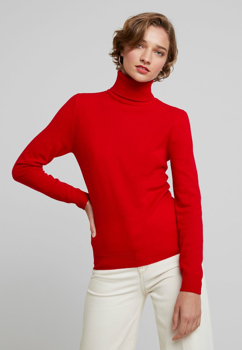 Benetton - TURTLE NECK - Trui - dark red