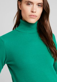 Benetton - TURTLE NECK - Sweter - green - 3