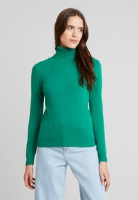 Benetton - TURTLE NECK - Sweter - green - 0