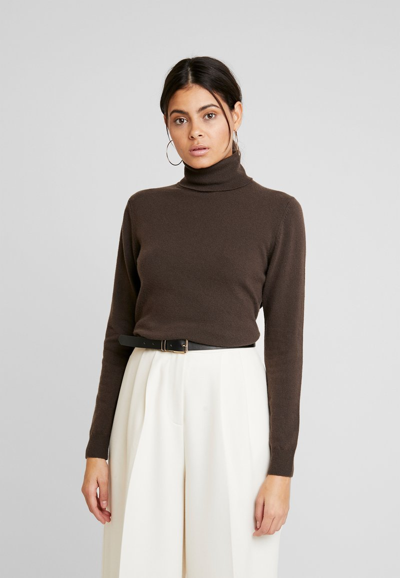 Benetton - TURTLE NECK - Sweter - brown