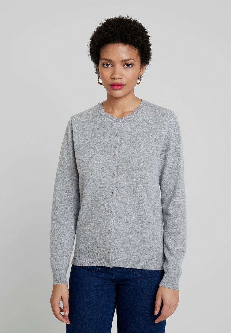 Benetton - ROUND NECK CARDIGAN - Cardigan - light grey
