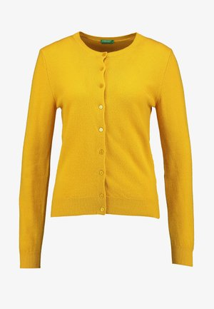 ROUND NECK CARDIGAN - Cardigan - mustard yellow