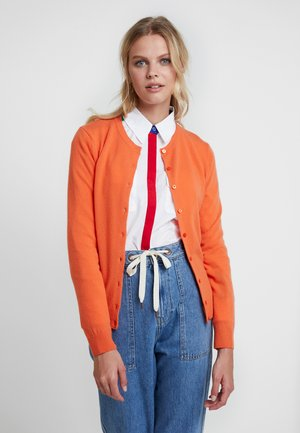 ROUND NECK CARDIGAN - Cardigan - orange