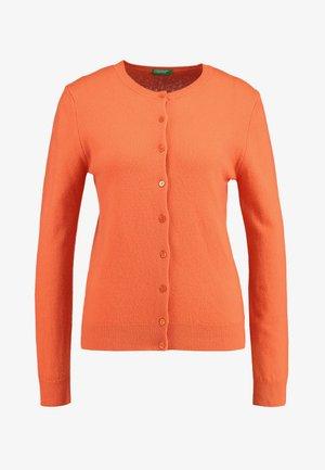 ROUND NECK CARDIGAN - Kardigan - orange