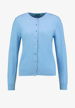 ROUND NECK CARDIGAN - Neuletakki - light blue