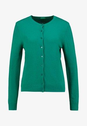 ROUND NECK CARDIGAN - Cardigan - green