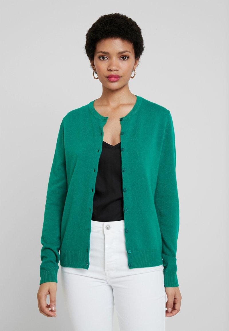 Benetton - ROUND NECK CARDIGAN - Vest - green