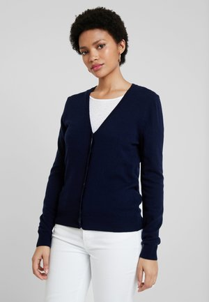 V NECK CARDIGAN - Kardigan - navy