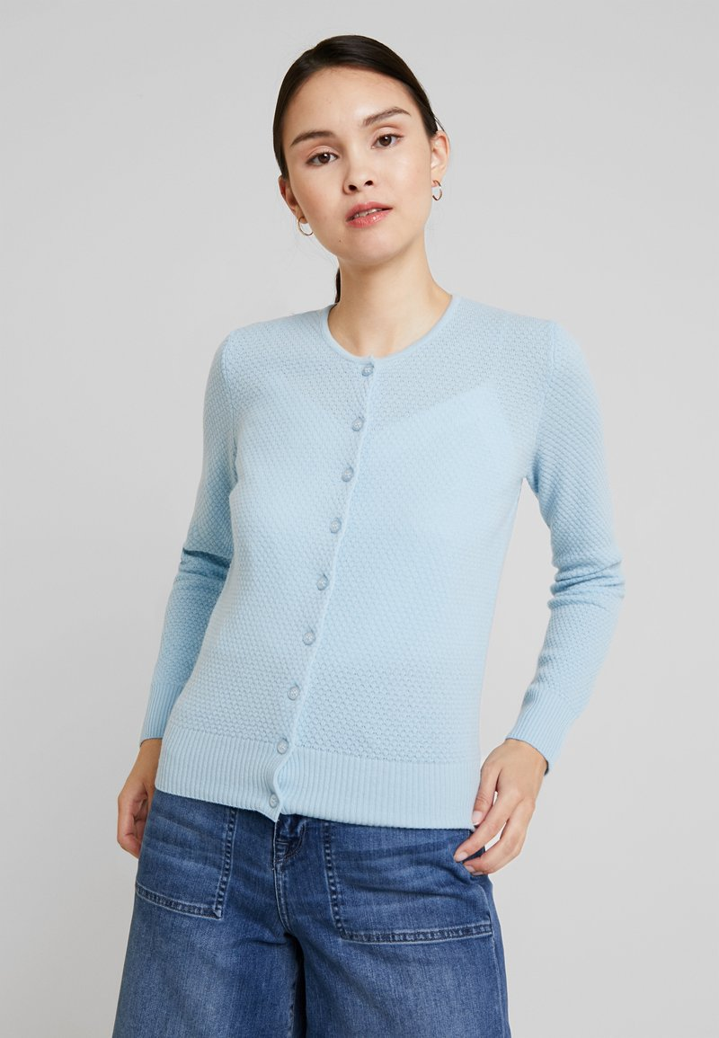 Benetton - ROUND NECK CARDIGAN - Kardigan - ice blue