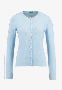 Benetton - ROUND NECK CARDIGAN - Kardigan - ice blue - 4