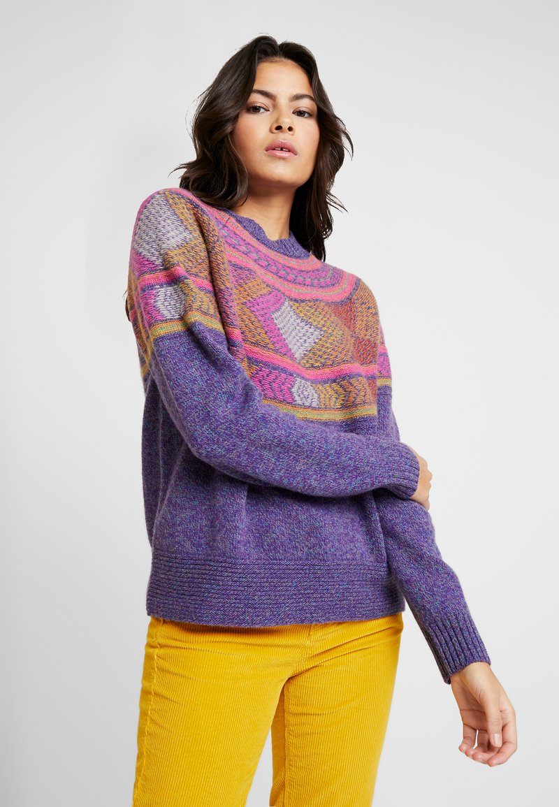 Benetton - CREW NECK FAIRISLE - Jumper - purple