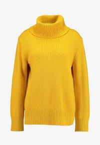 Benetton - MIX TURTLE NECK BOXY - Stickad tröja - mustard yellow - 4
