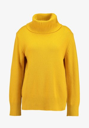 MIX TURTLE NECK BOXY - Pullover - mustard yellow