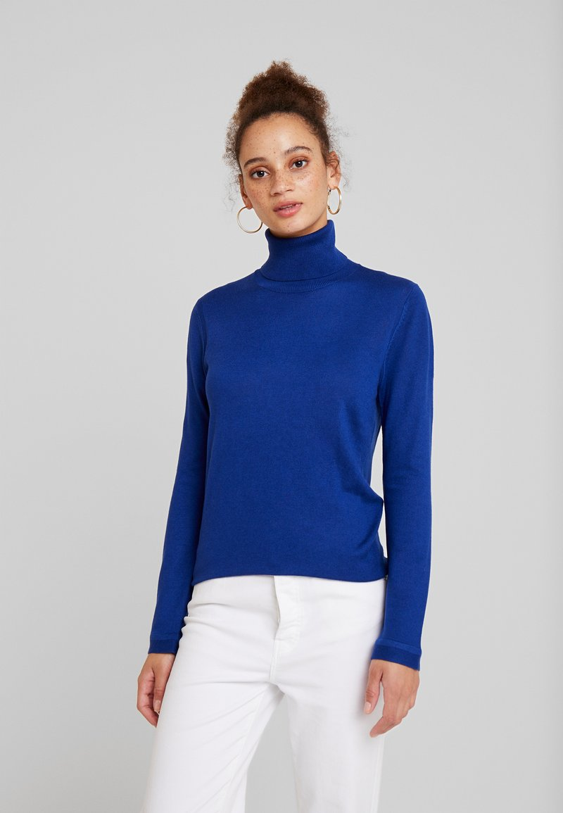 Benetton - TURTLE NECK - Jumper - royal blue
