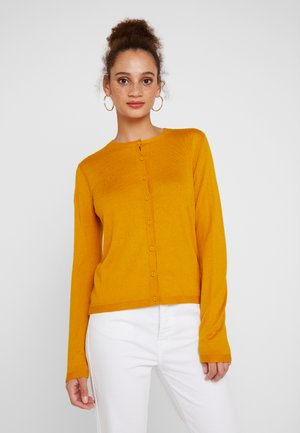 CREW NECK CARDIGAN - Kardigan - mustard yellow