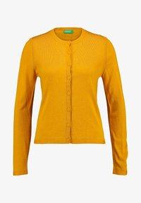 Benetton - CREW NECK CARDIGAN - Kardigan - mustard yellow - 3