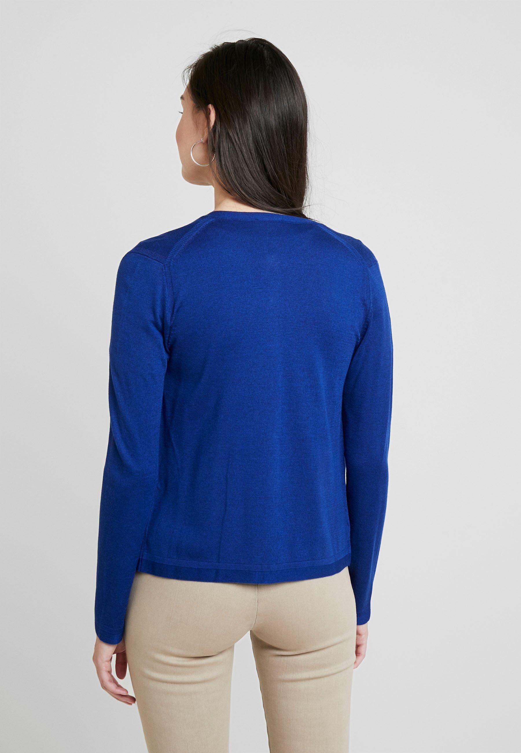 Benetton CREW NECK CARDIGAN - Gilet royal blue