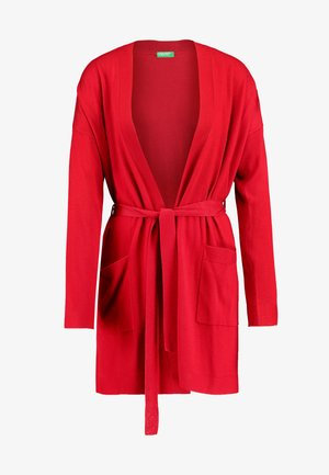 LONG OPEN CARDIGAN - Cardigan - red