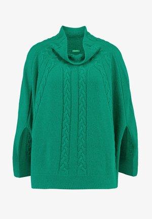 MIX CABLE PONCHO - Poncho - green