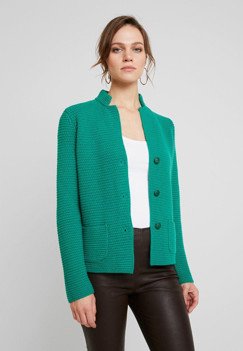 Benetton - WAFFLE CARDIGAN - Strikjakke /Cardigans - green