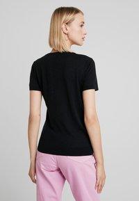 Benetton - BLEND CREW NECK - T-shirt basic - black - 2