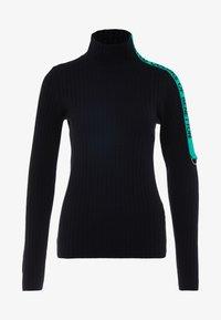 Benetton - TURTLE NECK TAPE DETAIL - Maglione - black - 5