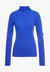 Benetton - TURTLE NECK TAPE DETAIL - Pullover - blue - 3