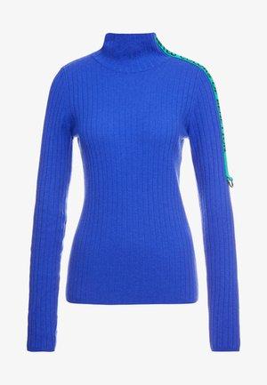 TURTLE NECK TAPE DETAIL - Maglione - blue