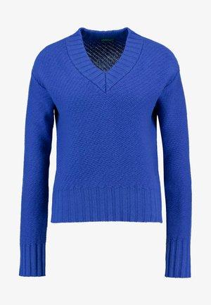 V NECK CROPPED - Svetr - blue