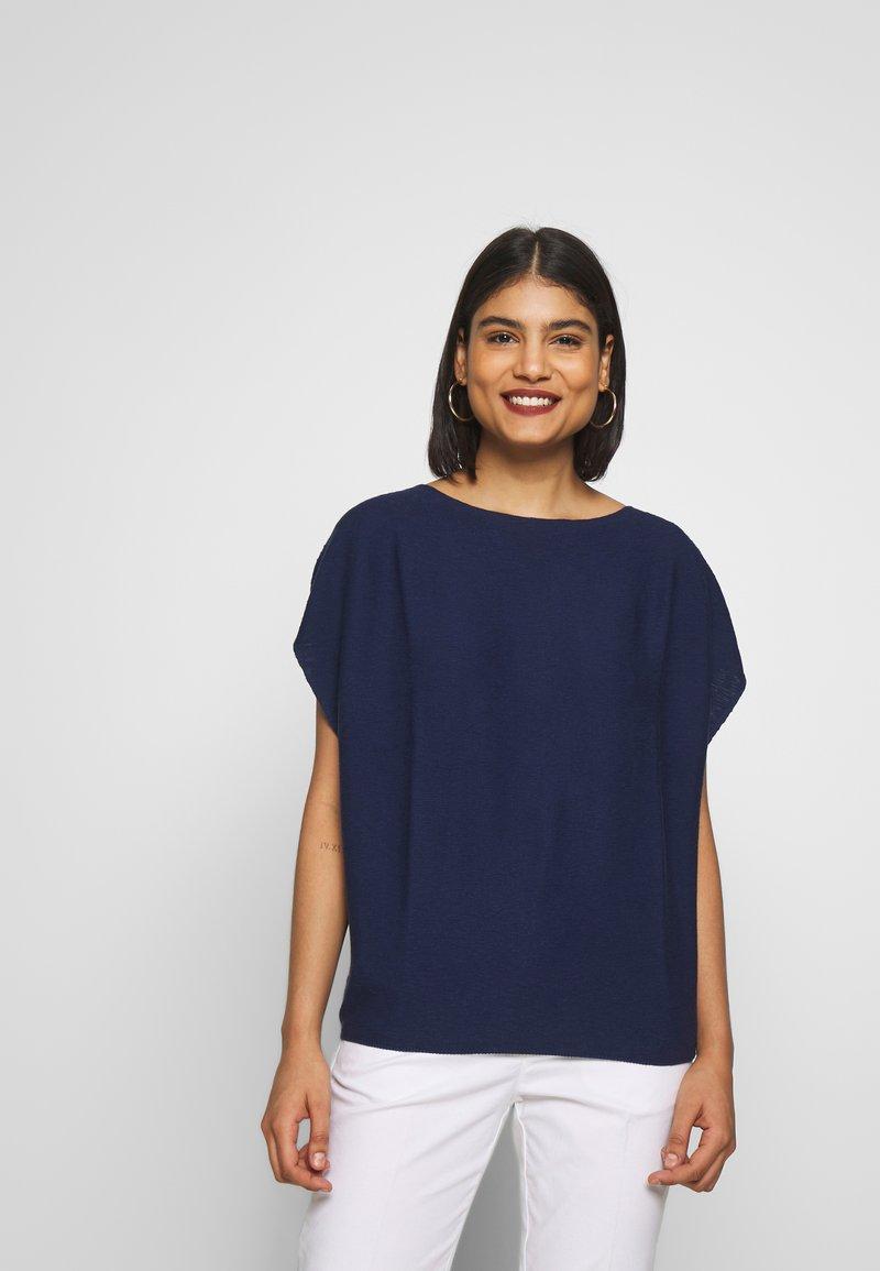 Benetton - T-shirt z nadrukiem - navy