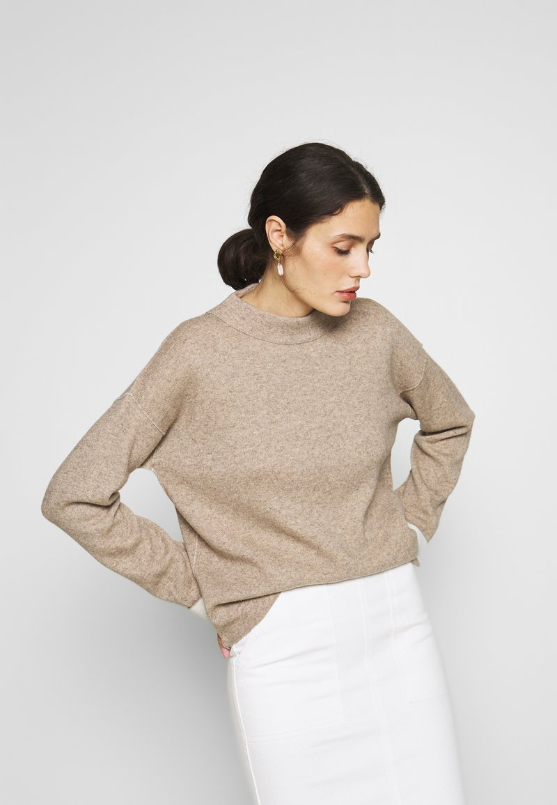 Benetton - TURTLE NECK - Jumper - beige