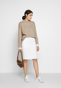 Benetton - TURTLE NECK - Jumper - beige - 1