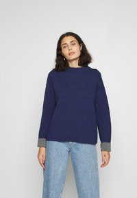 Benetton - TURTLE NECK - Trui - navy - 2