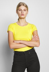 Benetton - T-shirt basic - yellow - 0