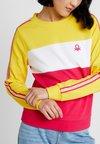 Benetton - LOGO BLOCK - Sweatshirt - yellow/white/pink