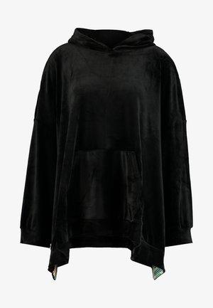 OVERSIZED SIDE SPLIT HOODIE - Jersey con capucha - black