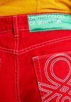 Benetton - CROP - Flared jeans - red