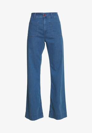 TROUSERS - Flared Jeans - mid blue