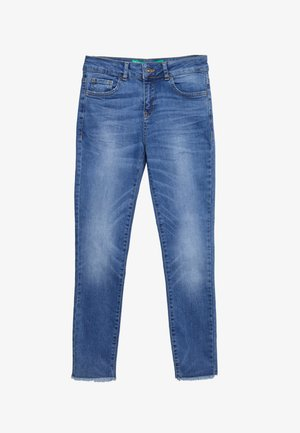 TROUSERS - Slim fit -farkut - mid blue
